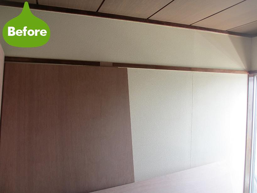 マンションの一室 砂壁から壁紙クロス交換 やっぱり白い壁はステキです -川崎市幸区