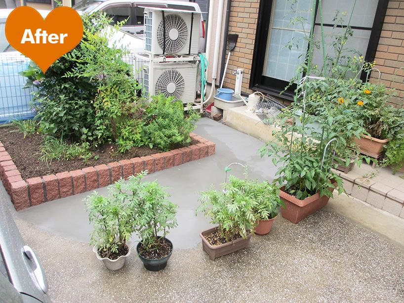 外構エクステリアのリフォーム 花壇のある暮らし -川崎市幸区