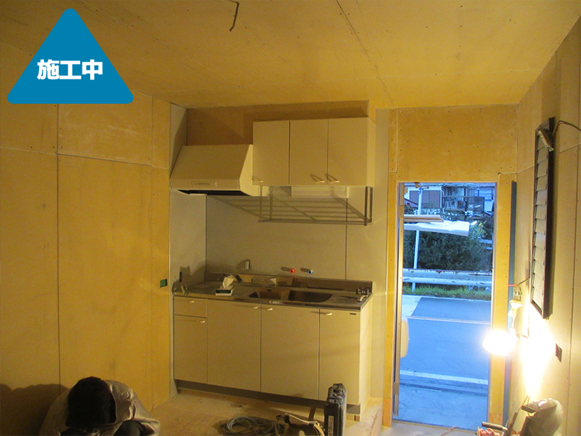 住宅車庫部分を趣味の部屋にリフォーム -川崎市中原区
