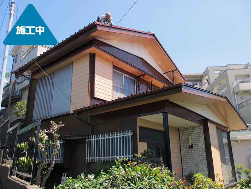 住宅外観フルリフォーム 広範囲塗装もお任せください -横浜市港北区