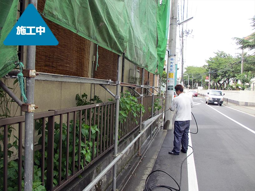 外壁塗装&車庫ルーフ交換 エクステリア工事 -川崎市中原区