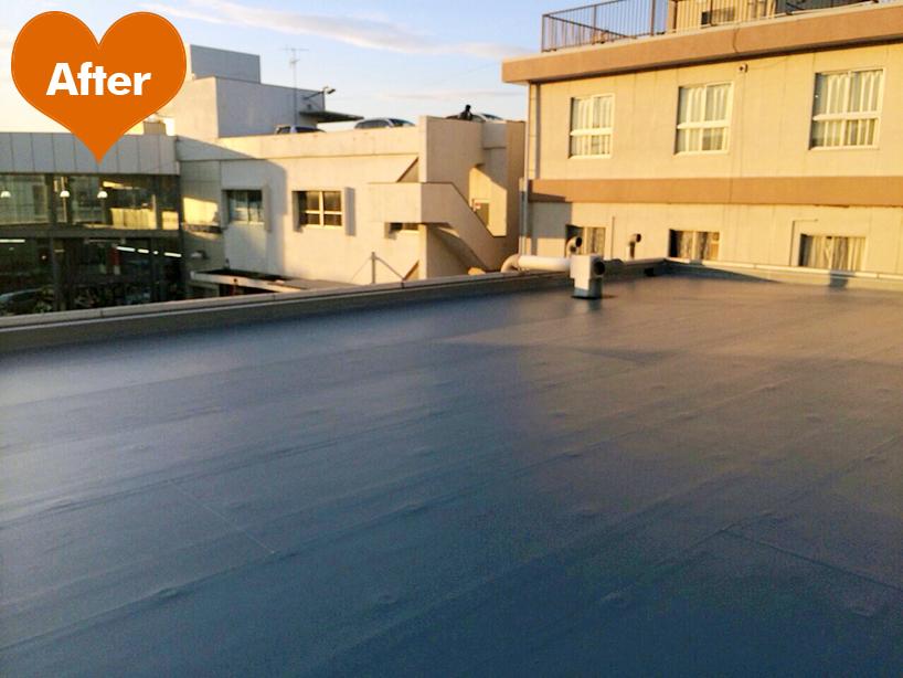事務所の屋根塗装、外壁防水と電気設備工事 -横浜市港北区