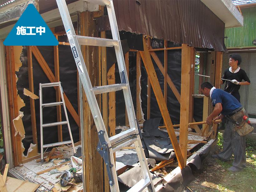 外構工事 納屋を解体しコンクリート駐車スペースに -川崎市幸区