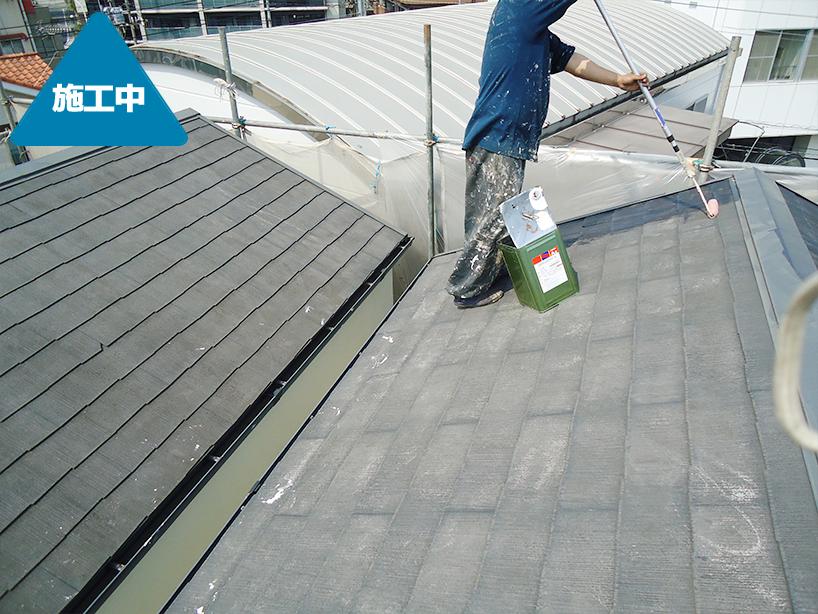 分譲住宅の外壁塗装・屋根塗装と給湯器交換工事 2邸一緒のご依頼 -川崎市中原区
