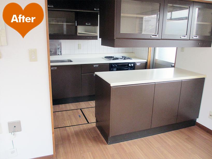賃貸住宅の原状回復+ファインアップ工事 洗面台交換とセットで  -川崎市川崎区